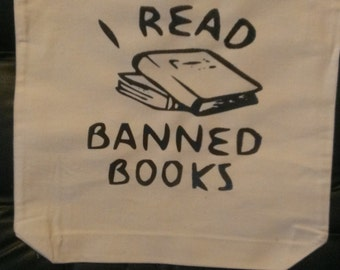 I Read Banned Books Canvas Tote Bag