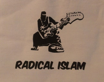 Radical Islam Burka Guitar Canvas Tote Bag