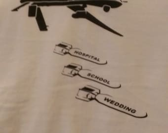 Long Sleeve Drone Bombs Screen Print T-shirt in Mens or Womens Sizes S-3XL