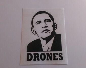 Obama Drones Vinyl Decal