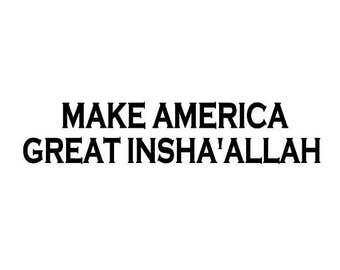 Make America Great Insha'Allah Canvas Tote Bag