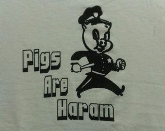 Pigs Are Haram Canvas Tote Bag