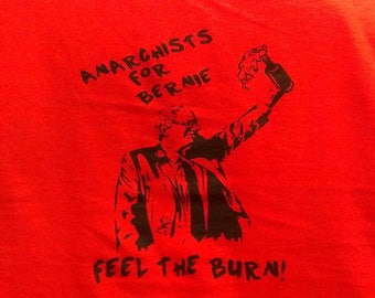 Babies and Toddlers Anarchists for Bernie Onesie or Tot's Tee in Size Newborn, 6 Months, 12 Months, T2, T3, & T4