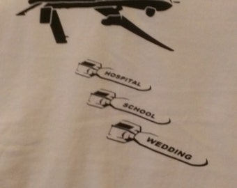 Drone Bombs Screen Print T-shirt in Mens or Womens Sizes S-3XL