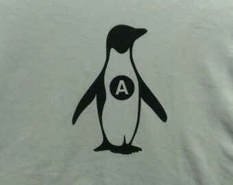 Anarchy Penguin Screen Print Hoodie Sizes S-5XL