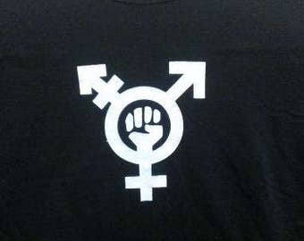 Kid's T-Shirt Trans Feminism (Symbol) Screen Print in Kids S-L