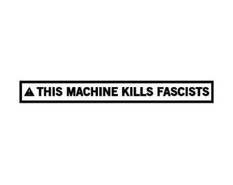 This Machine Kills Fascists Canvas Tote Bag