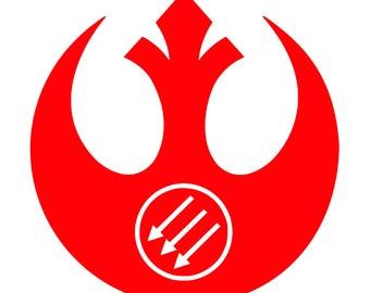 Antifa Rebel Alliance Vinyl Decal Star Wars Inspired