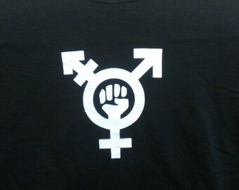 Long Sleeve Trans Feminism Screen Print T-shirt in Mens or Womens Sizes S-3XL