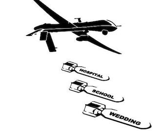 Kids Drone Bombing Screen Print T-shirt in Kids S-L