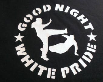 Good Night White Pride Long Sleeve Screen Print T-shirt in Mens or Womens Sizes S-3XL
