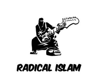 Radical Islam Guitar Canvas Tote Bag
