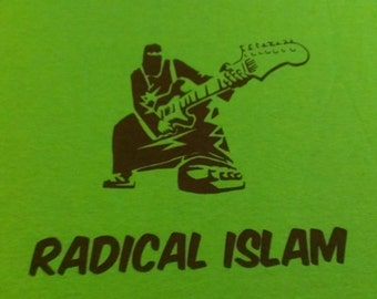 Radical Islam Burka Guitar Screen Print T-shirt in Mens or Womens Sizes S-3XL