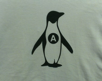 Anarchy Penguin Screen Print T-shirt in Mens or Womens Sizes S-3XL
