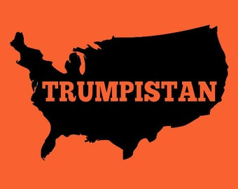 Backwards States of Trumpistan Long Sleeve Screen Print T-shirt in Mens or Womens Sizes S-3XL