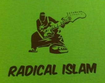 Kid's T-Shirt Radical Islam (Guitar) Screen Print in Kids S-L