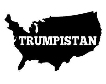 Backwards States of Trumpistan Canvas Tote Bag