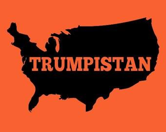Kids T-Shirt Backwards States of Trumpistan Screen Print in Kids S-L