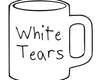 White Tears Mug Screen Print Hoodie Sizes S-5XL