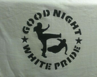 Good Night White Pride Canvas Tote Bag