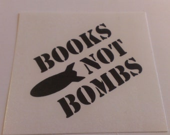 Books Not Bombs Vinyl Decal