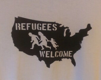Refugees Welcome United States Canvas Tote Bag