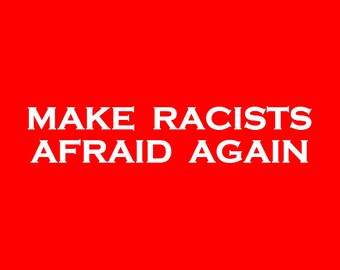 Make Racists Afraid Again Screen Print Hoodie Sizes S-5XL