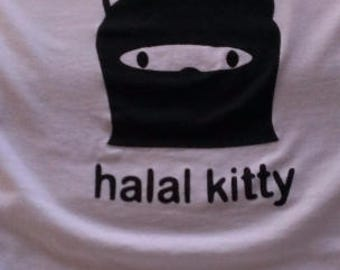 Babies and Toddlers Halal Kitty Onesie or Tot's Tee in Size Newborn, 6 Months, 12 Months, T2, T3, & T4