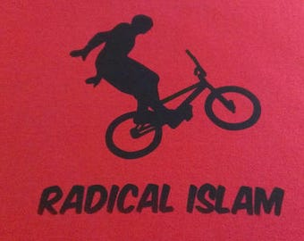 Babies and Toddlers Radical Islam (BMX) Onesie or Tot's Tee in Size Newborn, 6 Months, 12 Months, T2, T3, & T4