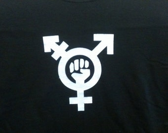 Trans Feminism Symbol Screen Print T-shirt in Womens or Mens Sizes S-3XL