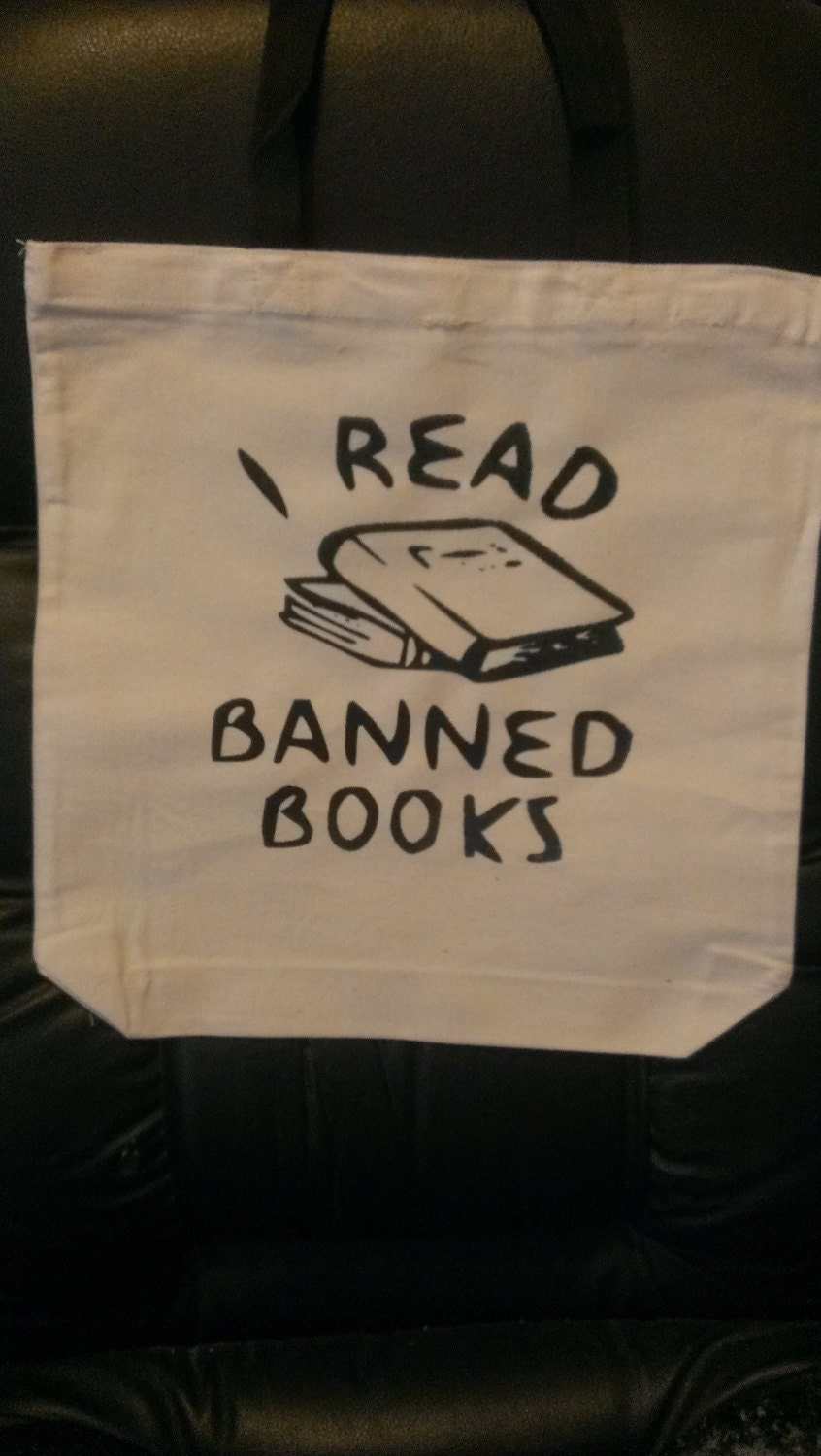 5fe73310ea2e I Read Banned Books Canvas Tote Bag