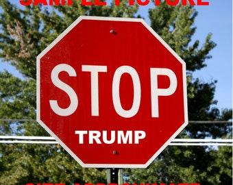 Stop Trump: Stop Sign Modification - Street Art Vinyl Decal