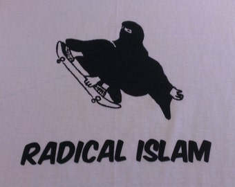 Radical Islam Burka Skateboard Screen Print T-shirt in Mens or Womens Sizes S-3XL