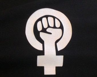 Feminist Symbol Screen Print T-shirt in Womens or Mens Sizes S-3XL
