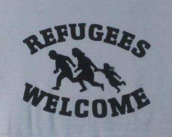 Kids Refugees Welcome Screen Print T-shirt in Kids S-L