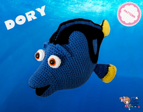 pattern crocheted disney pixar finding dory doll etsy