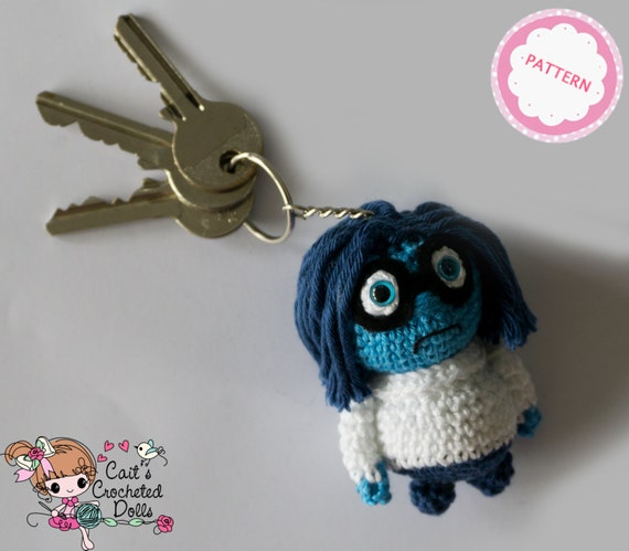 Haakpatroon Disney Inside Out Sadness Sleutelhanger Etsy