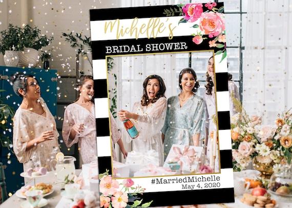 Bridal Shower Photo Prop Photo Booth Frame Bachelorette Etsy