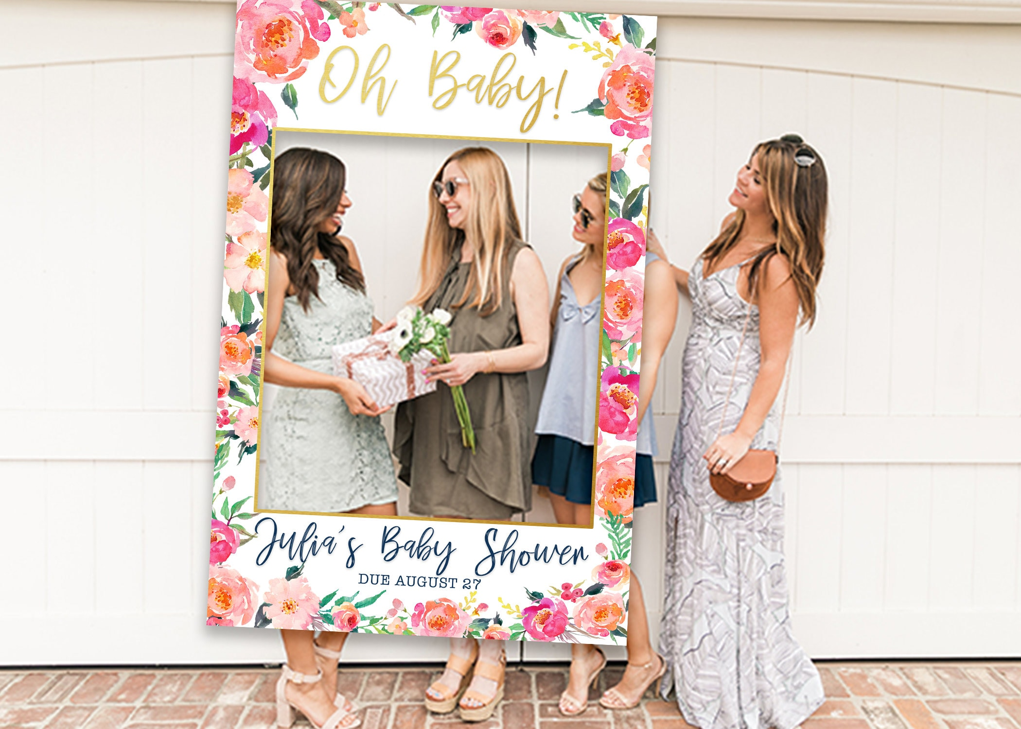 Baby Shower Photo Prop Photo Booth Frame Picture Frame