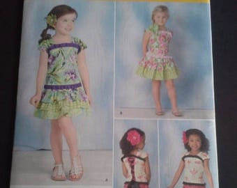 Simplicity 1627A, 1627, girls top and skirt pattern sizes 3-8, girls skirt pattern sizes 3-8, girls top pattern sizes 3-8, diy girls skirt
