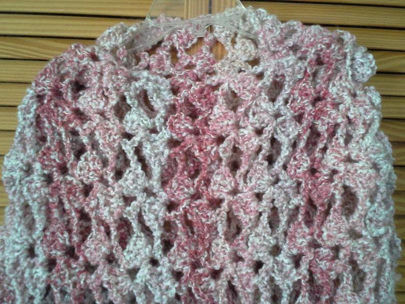 8f75da948 Color de rosa y marfil encaje de ganchillo chal chal