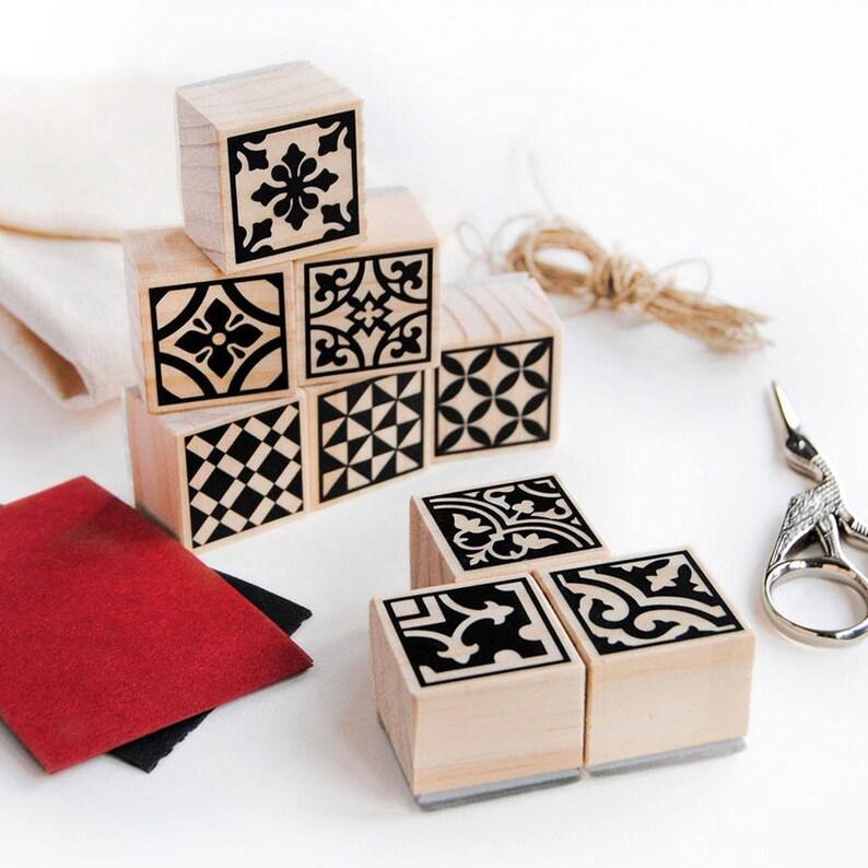 craft kit for adults moroccan tile stamp set decorative image 0