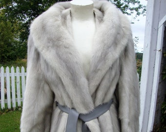 ce51f203801c Vintage 1960 s Emba Sapphire Natural Blue Royal Quality Mink Fur Jacket  Coat Stroller   Small