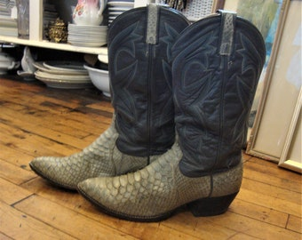 Joe Exotic Tiger King Boots Vintage Cowboy Boots Size 10D Men/'s Brown Leather Western Horseback Riding Style Western Cowboy Boots