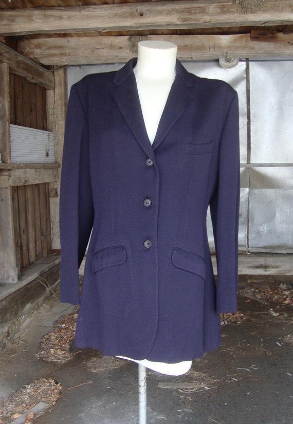 Vintage 1940's Dark Blue Riding Jacket-Size Medium