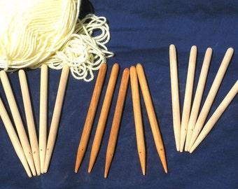 Weaving sticks 1 set of 5 - effectively a hand held Peg Loom