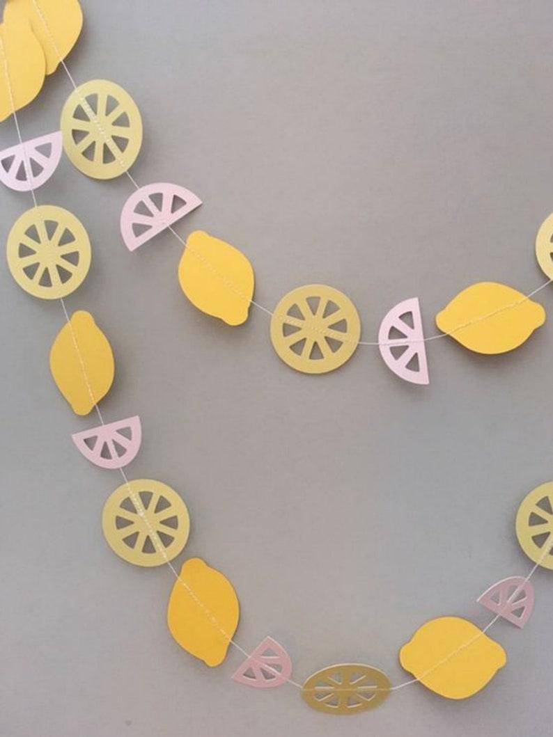 Lemon First Birthday Lemonade Party Decor Lemonade Banner Lemon Smash Cake Lemon Garland