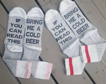 If you can read this... socks . Bring me the wine.. cookies.. chocolate.. tea. Whiskey.. scotch.. beer. Ect.
