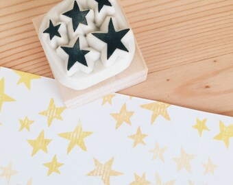 Star hand carved rubber stamp.star stamp.star rubber stamp.star.diy scrapbook
