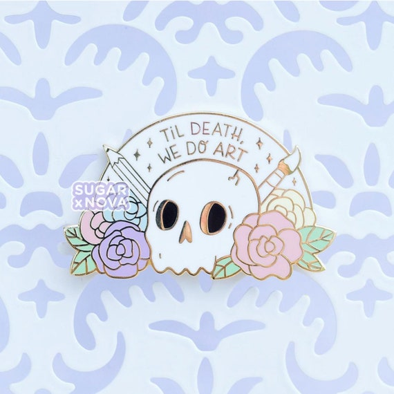 handmade pin ooak Til Death